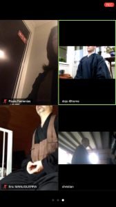 First zazen on zoom with Paula, Fred, Eric and Christian.